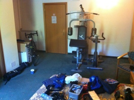 A gym in the room WTF