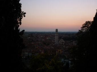 Sunset from my campsite in Verona 1