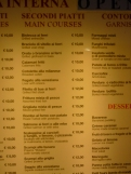 Notice prices in an average (not top) restaurant in Venice - not too bad