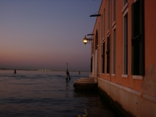 Watching the sunset at edge of Venice
