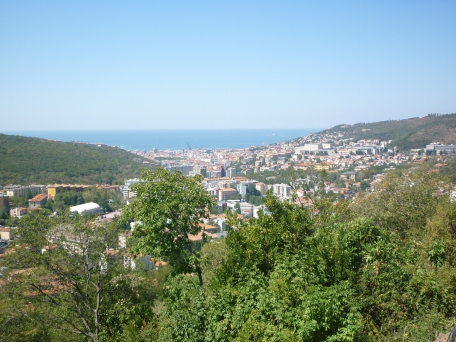 1/4 way of climb - Trieste Italy from above