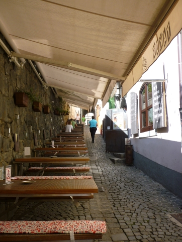 Maribor side streets - coffee shops everywhere