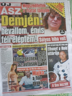 morning tea coffee stop - front page - very liberal in Hungary haha