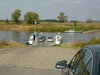 The Elbe Route - Ferry for cars and bikes