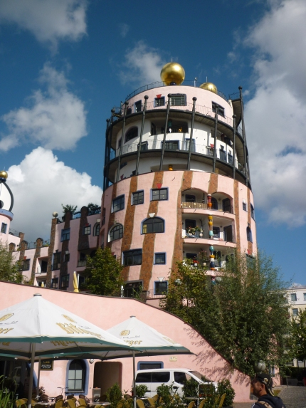 Dr Seuss type house in centre of Magdeburg