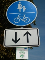 The Elbe Route - Signage - this is a small one- Normally has next two towns and km's to go