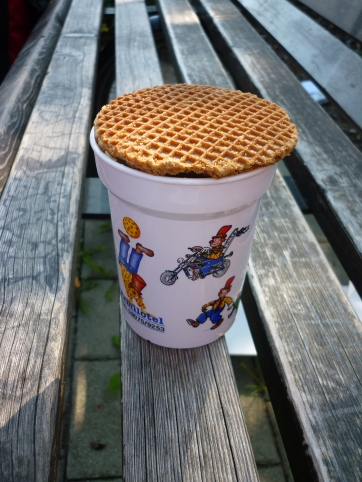 Nearing the The Netherlands now - getting used to Stroopwafels