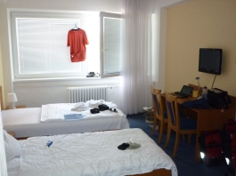 My accommodation - pretty sweet for $30 incl a sweet breakky **fills pockets for lunch**