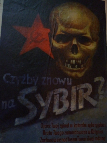Scary propaganda poster
