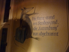Restaurant in Hameln - A LOT of rat paraphernalia around town