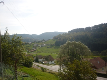 Gerardmer in the distance