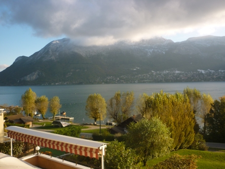 View from our hotel in Annecy