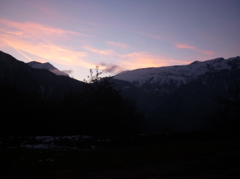 Sunsetting over Alp d'Huez