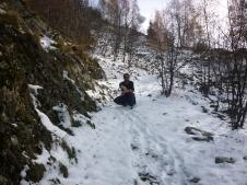 Climbing in Sain Christophe-en-Oisans (Peyssa Summit) 2042mtrs - Snowball action