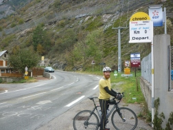 Start of climb - Alpe d'Huez