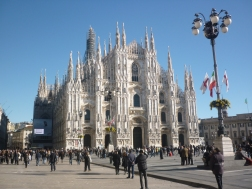 Centre of Milan - Main Duomo there