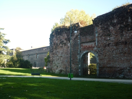 Old castle (Sforzesco) owned by dukes in the 14th century