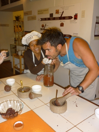 The last bit of blood to make the Mayan Hot Chocolate - Good prank