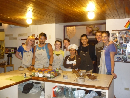 The group at the Chocolate Museum (Choco Museo)