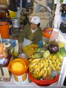 Local markets purchasing a fresh juice