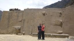 Wall of the six monoliths at Ollantaytambo