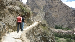 Trekking to next spot at Ollantaytumbo