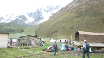 First camp on Salkantay Trek