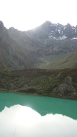 Glacier at bottom of Salkantay mountain