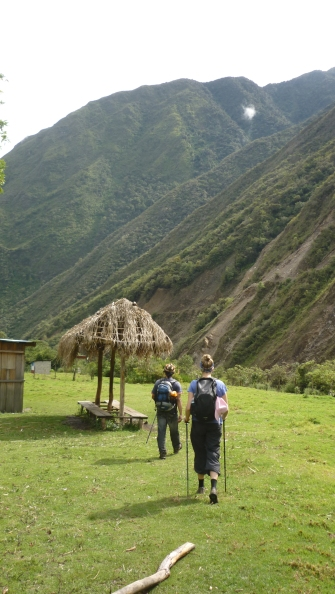 Going through villages on Salkantay Trek