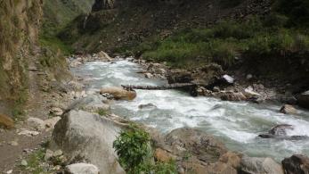 Rickety bridges on Salkantay Trek