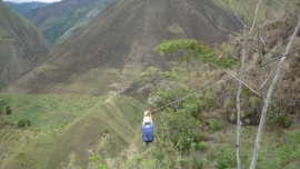 WOOOOHOOooooo!!!!! - Zip lining on the Salkantay Trek