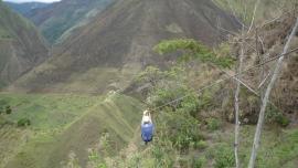 WOOOOHOOooooo!!!!! - Zip lining on the Salkantay Trek