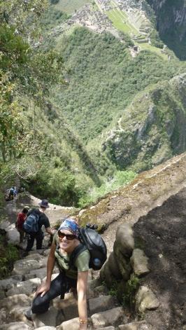 Climbing Huayna Picchu