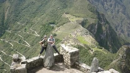 Huayna Picchu (Machu Picchu in backdrop)